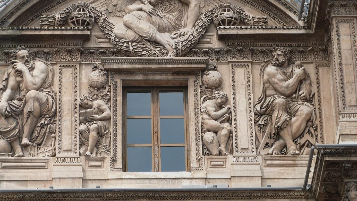 Les sculptures du louvre aile lescot les bas reliefs for Fenetre louvre
