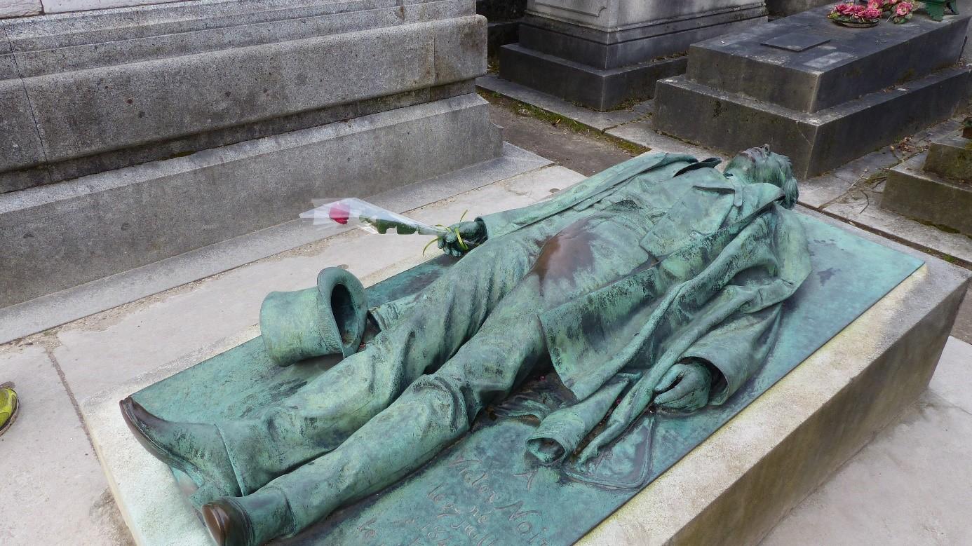 Les Tombes Du P 232 Re Lachaise Victor Noir